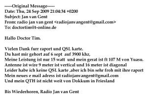 Jan van Gent-QSL