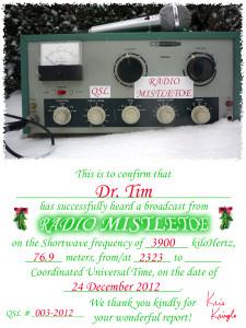 003-2012  Dr Tim