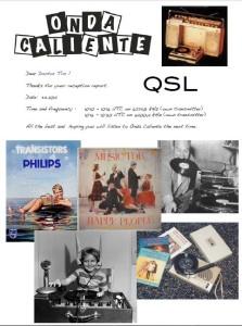 QSL Radio Onda Caliente