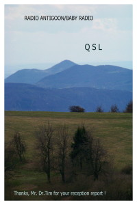 QSL Karte Antigoon - Baby Radio
