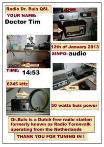 QSL Radio Dr.Buis